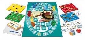 skæg med bogstaver spilleplade